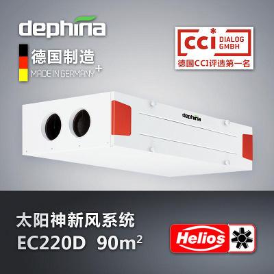 太阳神一体化中央新风系统dephina德菲兰热交换新风机EC220DEC340D家用德国制造原装进口helios